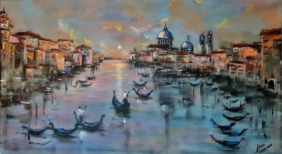 ArteDiAlina.com painting: April in Venice